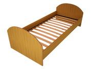 Кровати металлические с ДСП спинками для санаториев,  кровати оптом.