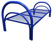 Железные двухъярусные кровати для бытовок,  кровати для общежитий